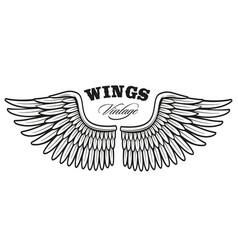 vintage wings 2 vector image vector image