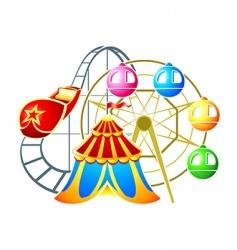 Amusement park symbol vector