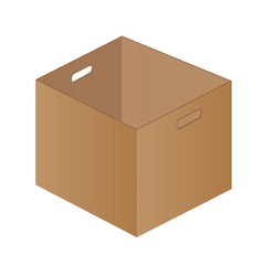 Brown paper box on a white background One brown vector image