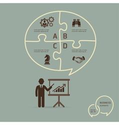 Businessman icons presentation vector image