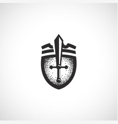 isolated abstract medieval shield logo coat of vector image