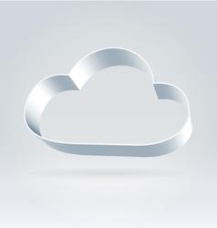 Metallic ribbon cloud vector image vector image
