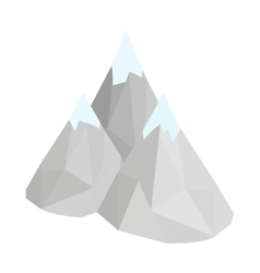 Mountain icon isometric 3d style vector image vector image