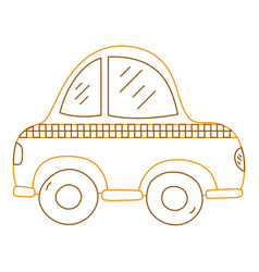 color line taxi car vehicle to transport service vector image