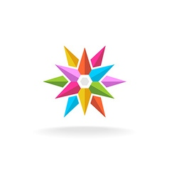 Colorful star logo vector image vector image