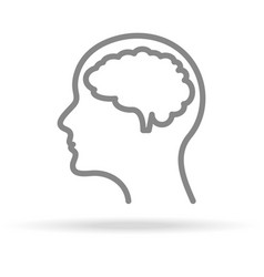 human brain neurology icon in trendy thin line vector image vector image