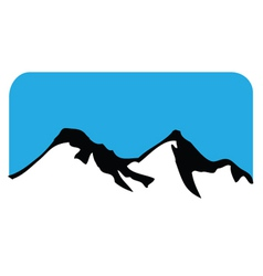 mountain symbol vector image vector image