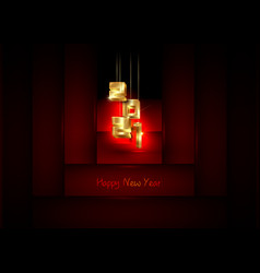 2021 happy new year gold 3d lettering numbers sign vector image