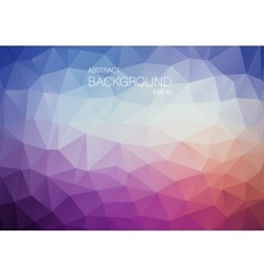 Abstract violet triangle shapes backgound vector image