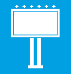 advertising billboard icon white vector image