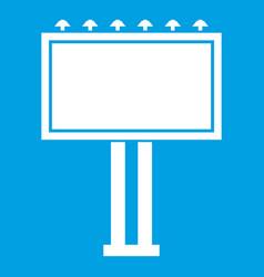 advertising billboard icon white vector image