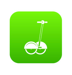 alternative transport vehicle icon digital green vector image