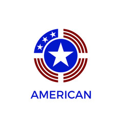 america circle shield logo vector image