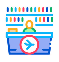 Appearance duty free counter icon vector