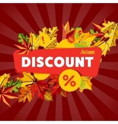 Autumn seasonal sale discount banner vector