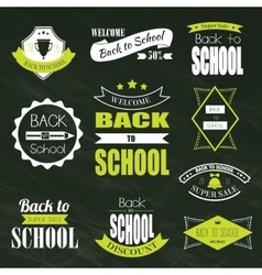 Back To School Typographic Emblems vector