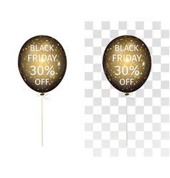 Balloon gold spangles black friday 30 percent off vector