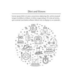 Banner or flyer template weight loss diet card vector