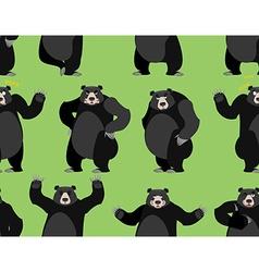 baribal seamless pattern American black bear vector image