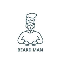 beard man line icon beard man outline vector image