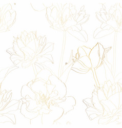 beautiful backdrop with blooming tulips flowers vector image