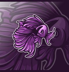 Betta fish logo template vector