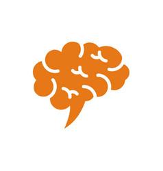 Brain tech logo vector