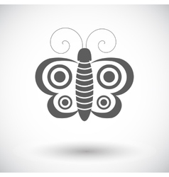 Butterfly single icon vector image