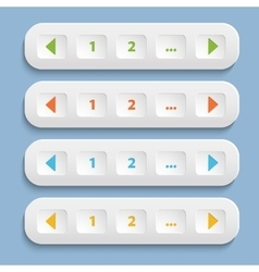 Buttons with shadow vector image