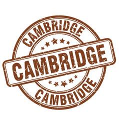 Cambridge brown grunge round vintage rubber stamp vector