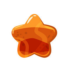 candy honey star jelly icon cartoon style shiny vector image