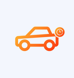 Car icon with clock sign vector