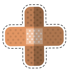 cartoon medical plaster bandage adhesive vector image