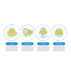 choose nurse infographic template vector image