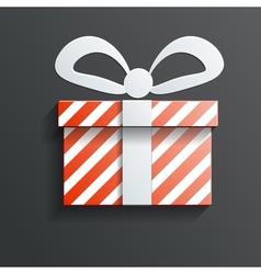 Christmas Gift icon with shadow vector image