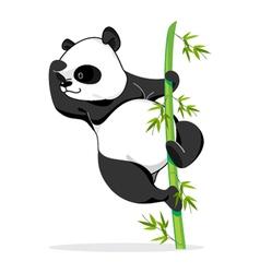 Climbing panda vector