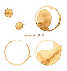 Coffee abstract watercolor vector