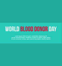 Collection background blood donor day vector