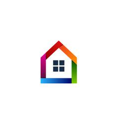 color house logo icon design vector image
