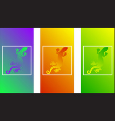 color lizard creeping soft color gradients tropi vector image
