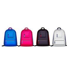 colourful school backpacks set vector image
