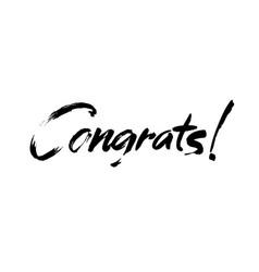 Congrats hand written lettering vector