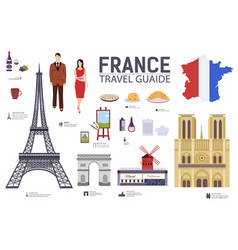 Country france travel vacation guide of goods vector
