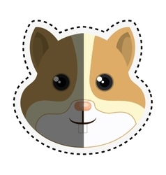 Cute hamster isolated icon vector