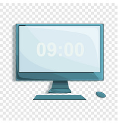 desktop computer icon cartoon style vector image