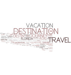 Destination word cloud concept vector
