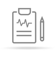 diagnostic medical research icon in trendy thin vector image