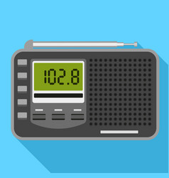 Digital radio icon flat style vector