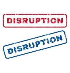 Disruption rubber stamps vector