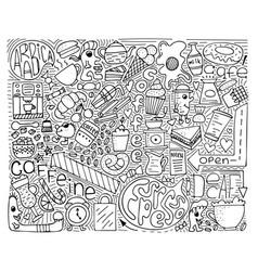 doodle monochrome modern art vector image